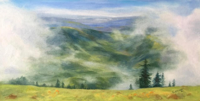 Morning Mist on the Mountain - Laura Crosby
